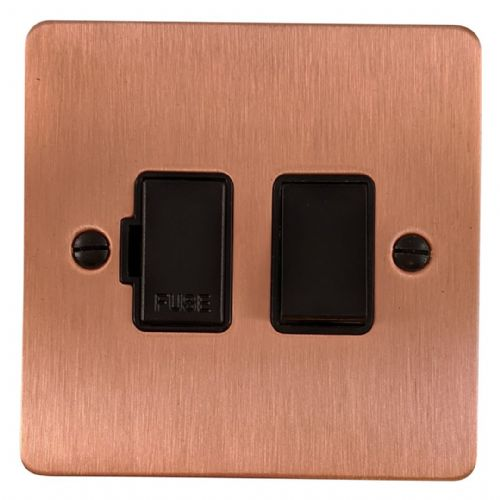 G&H FRG57B Flat Plate Rose Gold 1 Gang Fused Spur 13A Switched